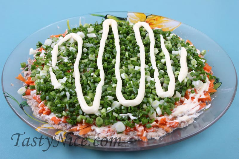 Вкусный салат мимоза