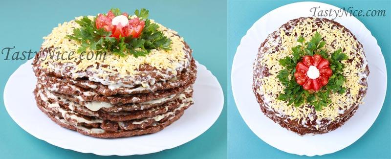 торт печеночный