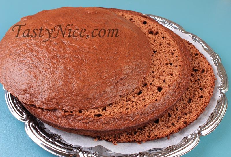 торт шоколадные коржи