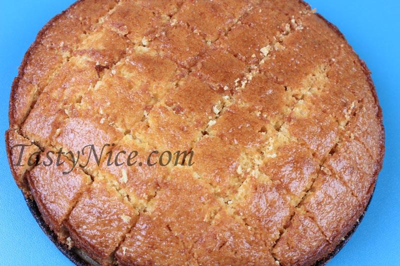 Торт кучерявый белый корж