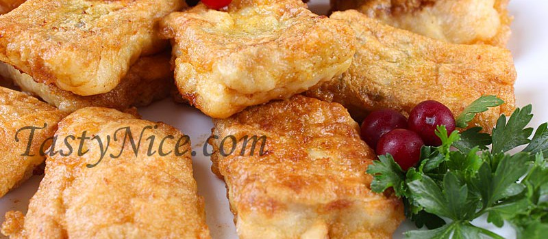 Жареная рыба хек