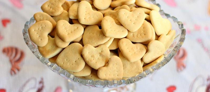 Галетное печенье Сердечки