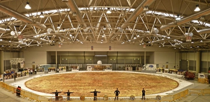 самая большая пицца